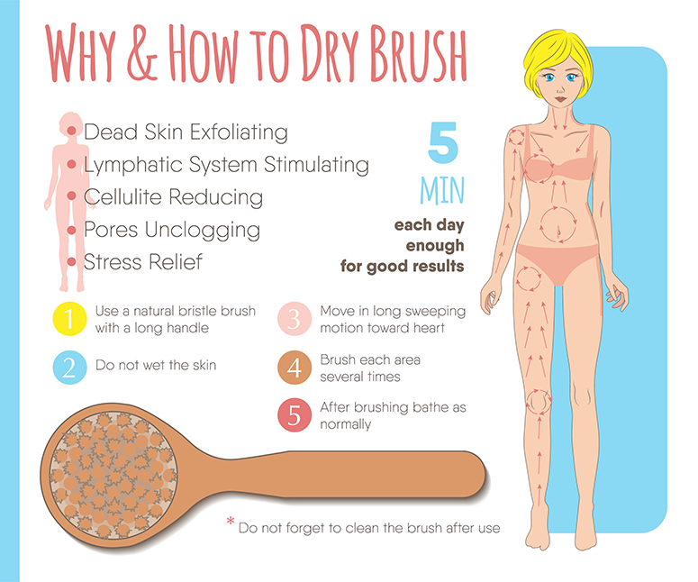 Why and How to Dry Brush Info-Graphic
